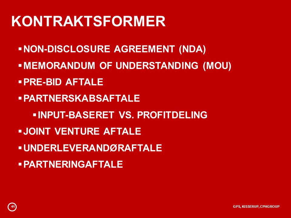 KONTRAKTSFORMER NON-DISCLOSURE AGREEMENT (NDA)
