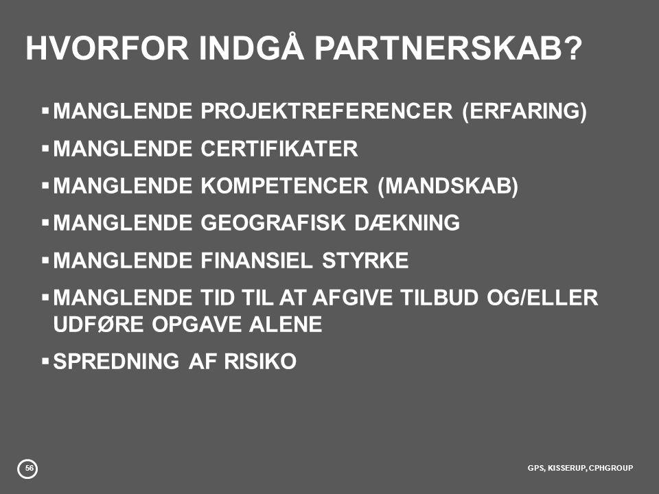 HVORFOR INDGÅ PARTNERSKAB