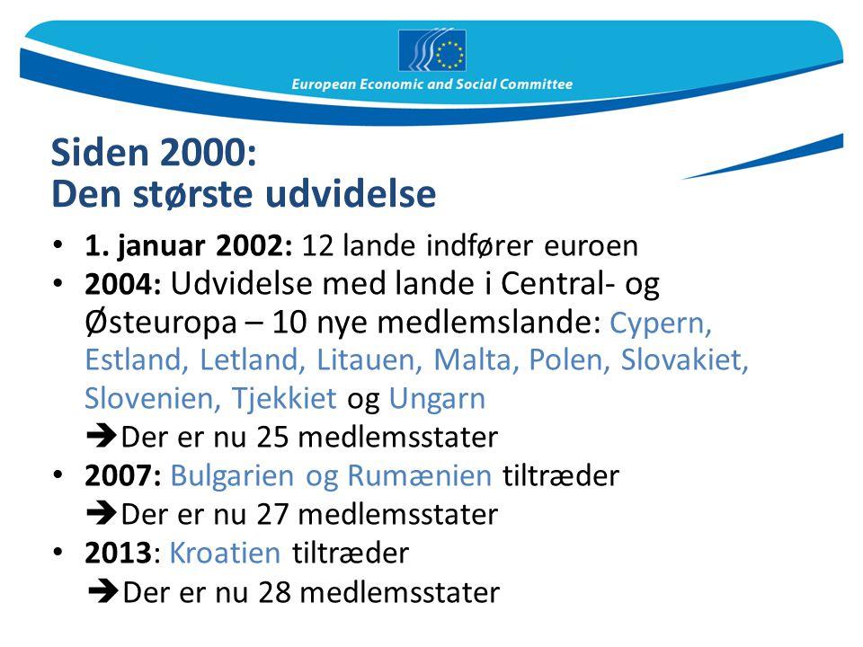 Siden 2000: Den største udvidelse