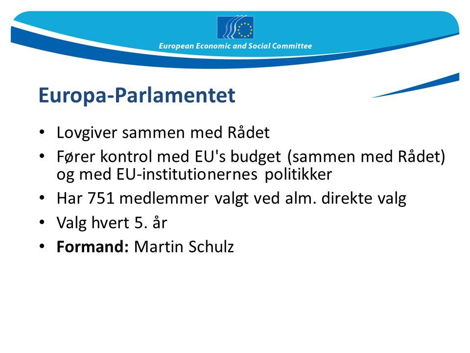 Europa-Parlamentet Lovgiver sammen med Rådet