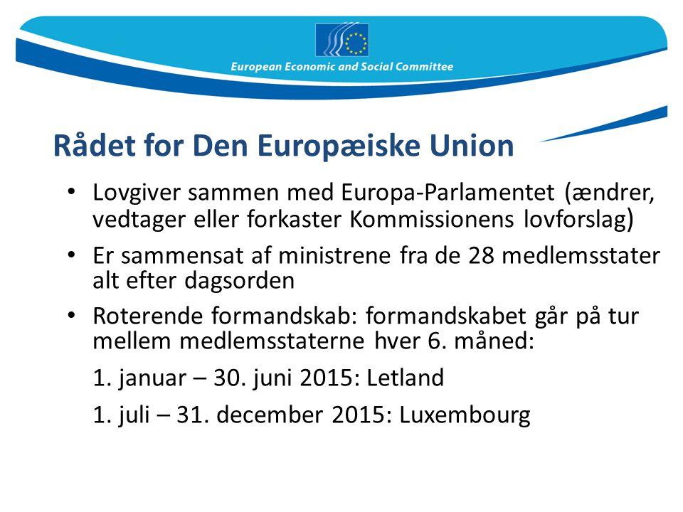 Rådet for Den Europæiske Union