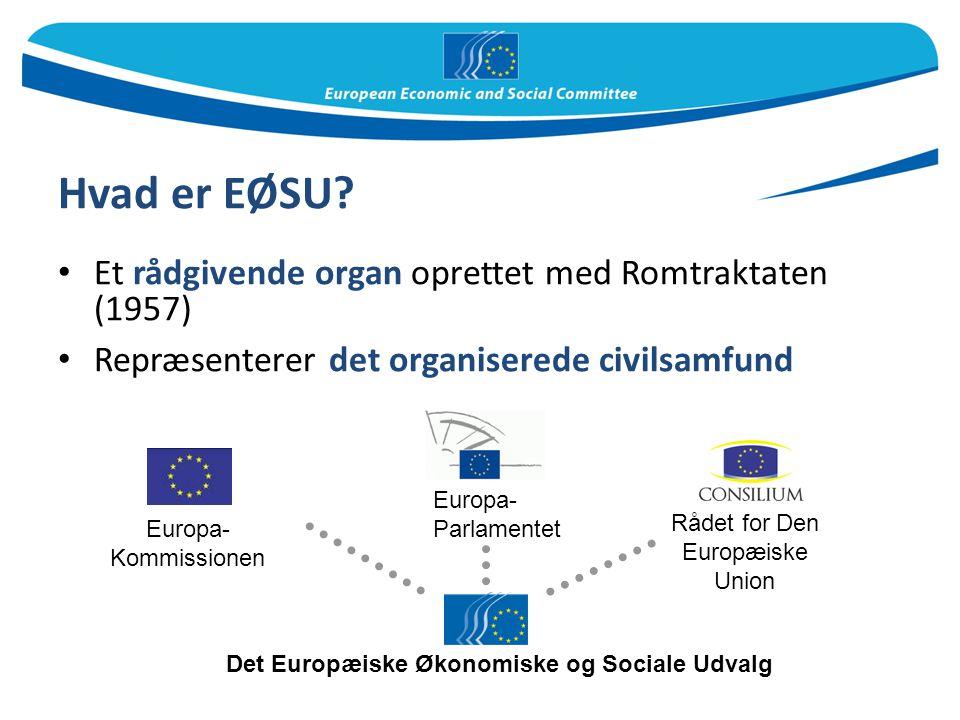 Hvad er EØSU Et rådgivende organ oprettet med Romtraktaten (1957)