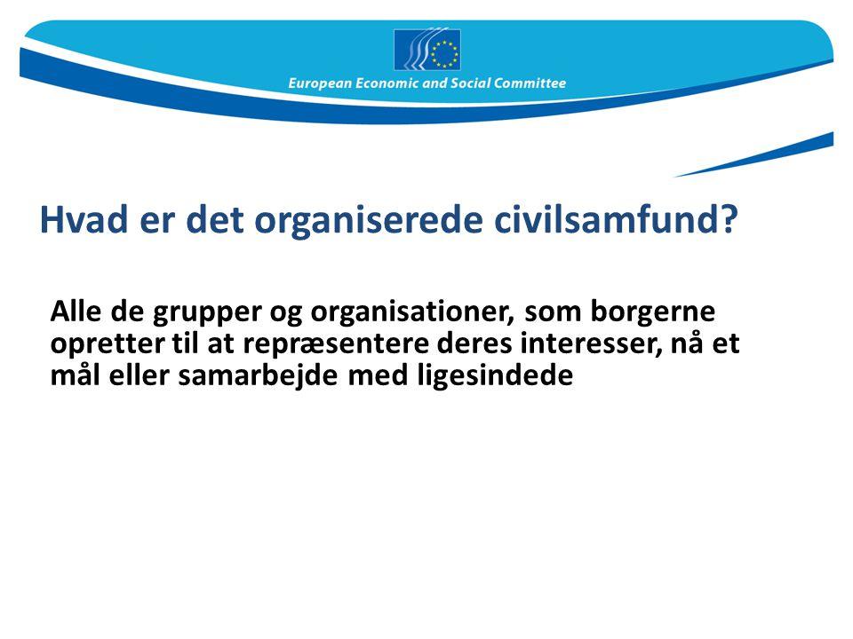 Hvad er det organiserede civilsamfund
