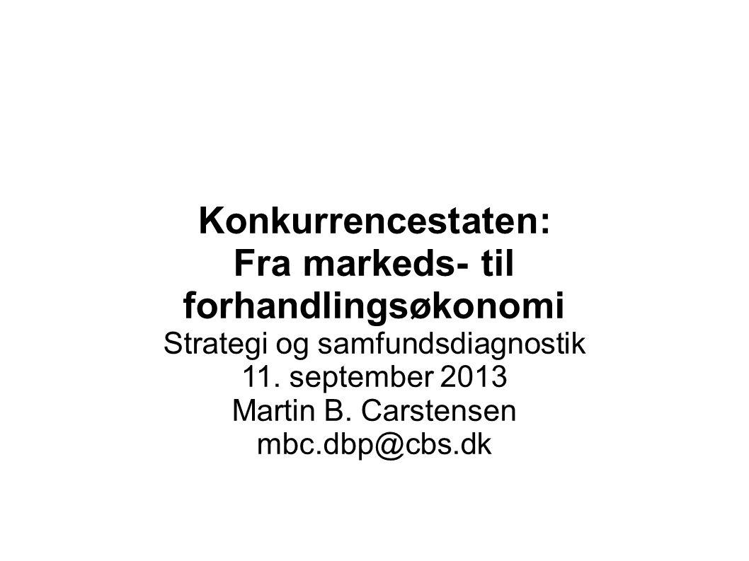 Fra markeds- til forhandlingsøkonomi
