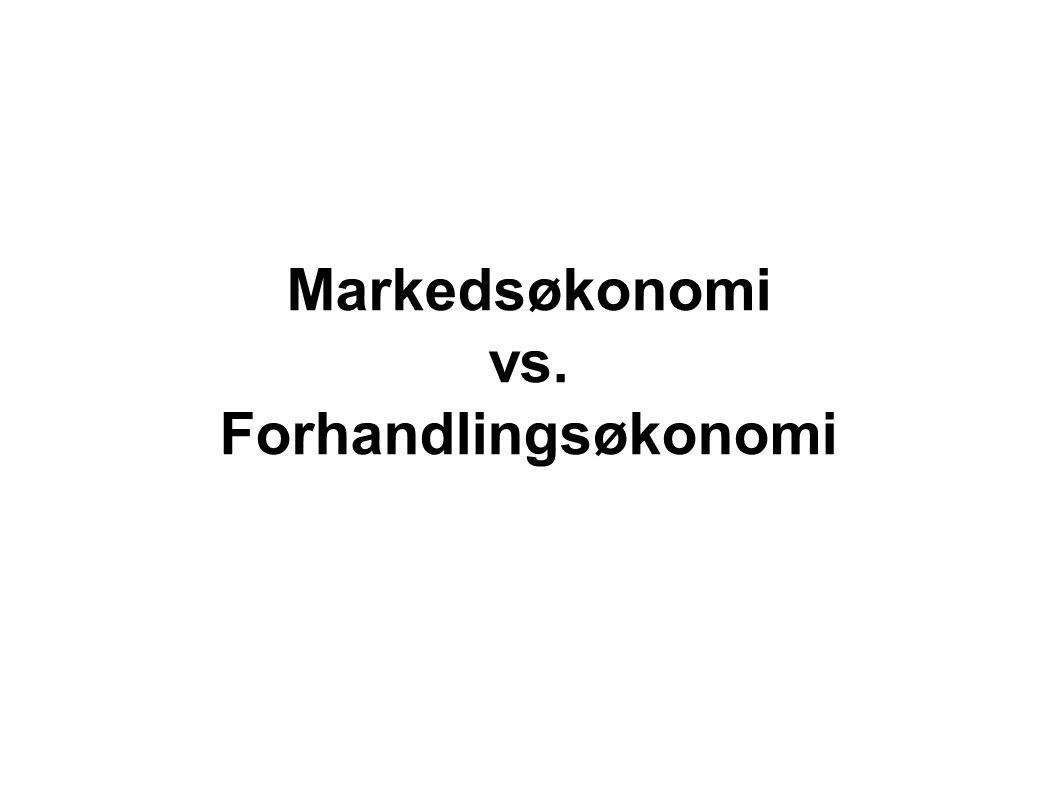 Markedsøkonomi vs. Forhandlingsøkonomi