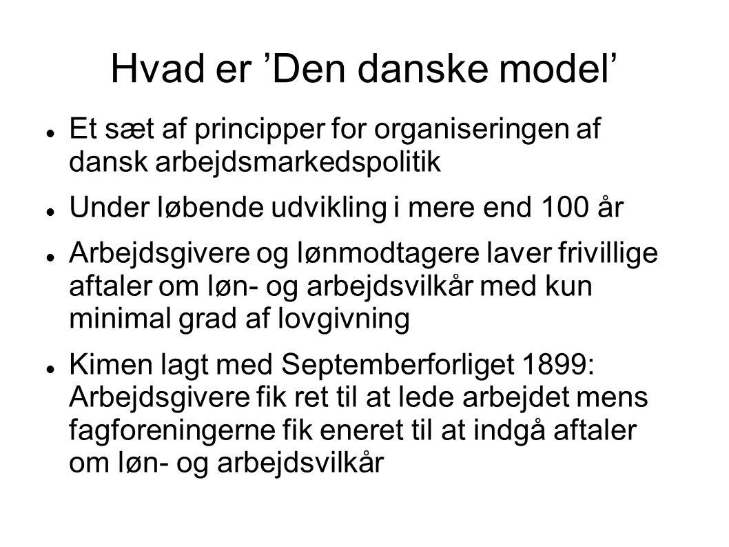 Hvad er 'Den danske model'