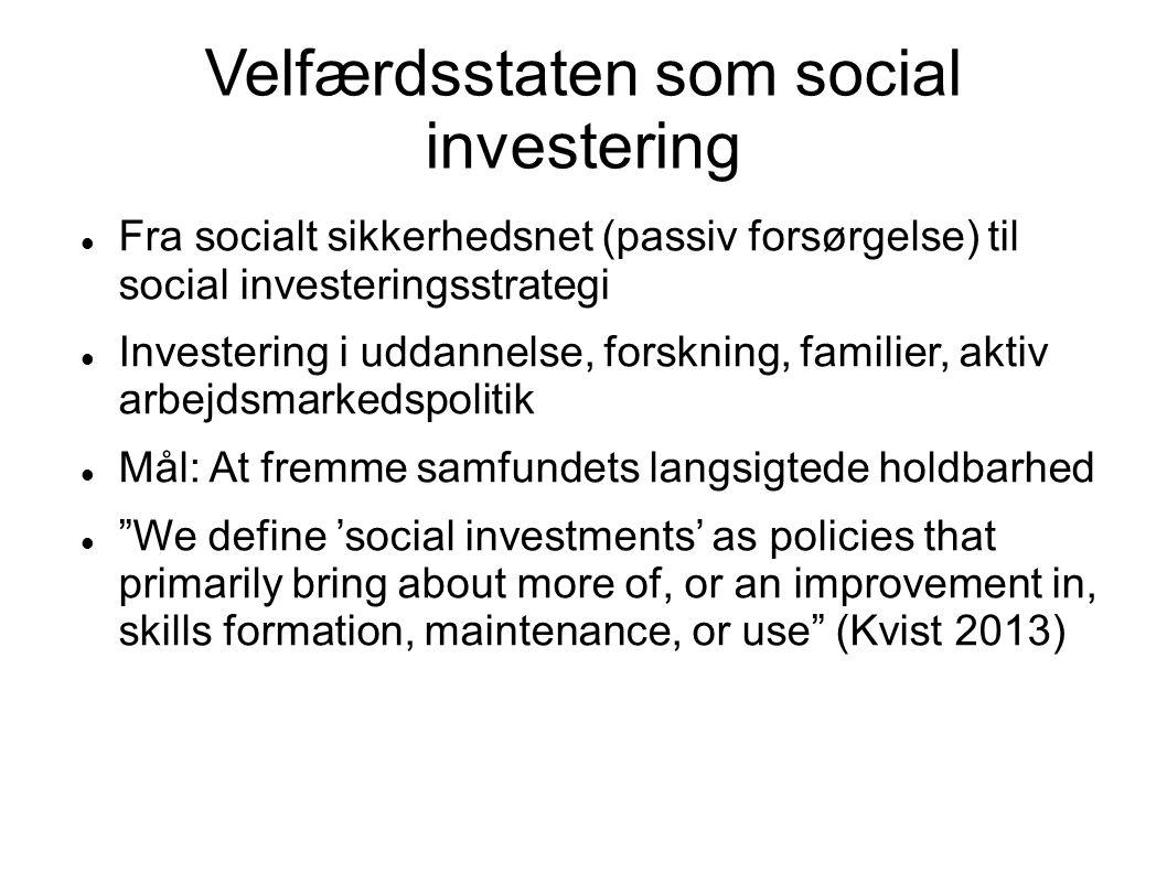 Velfærdsstaten som social investering