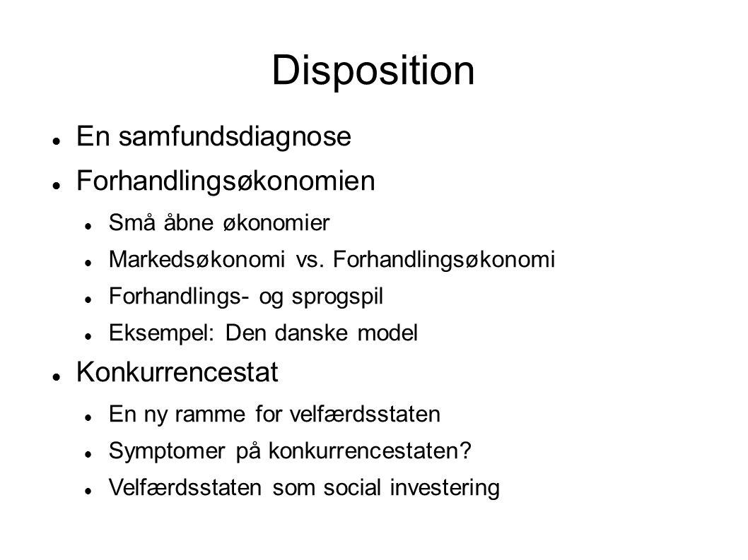 Disposition En samfundsdiagnose Forhandlingsøkonomien Konkurrencestat