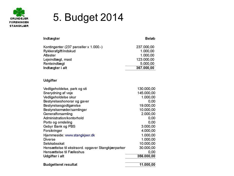 5. Budget 2014