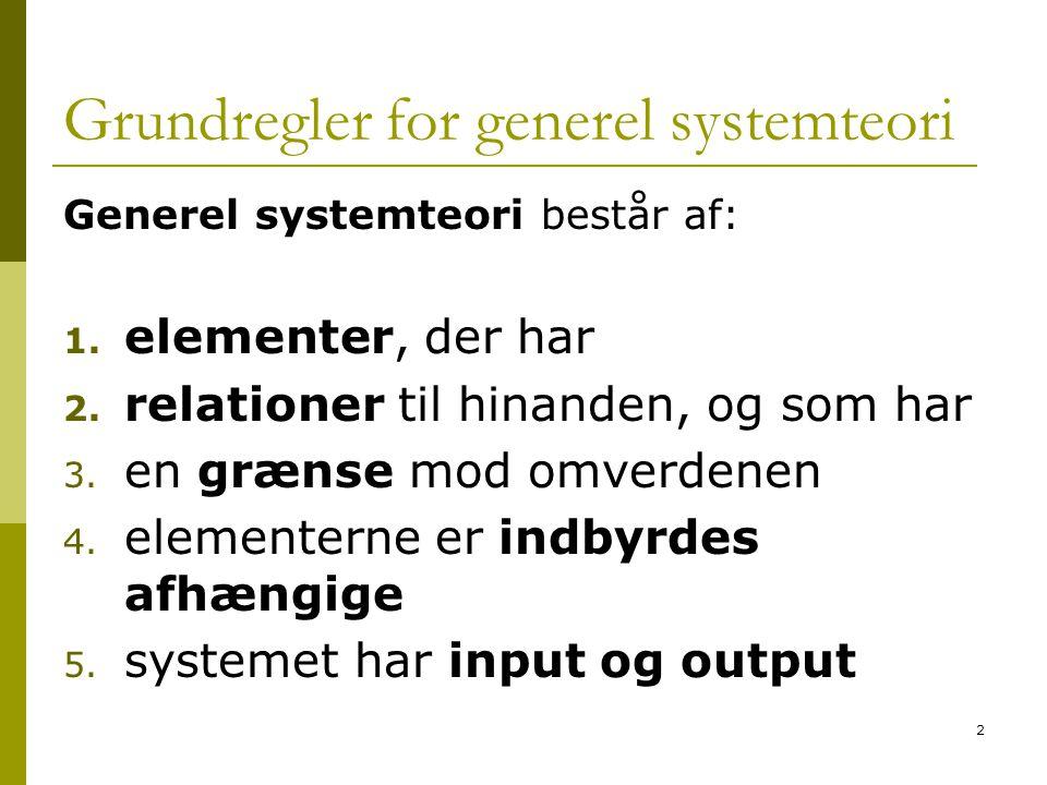 Grundregler for generel systemteori