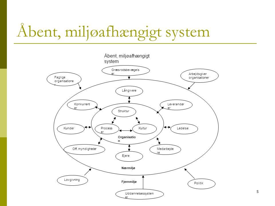 Åbent, miljøafhængigt system