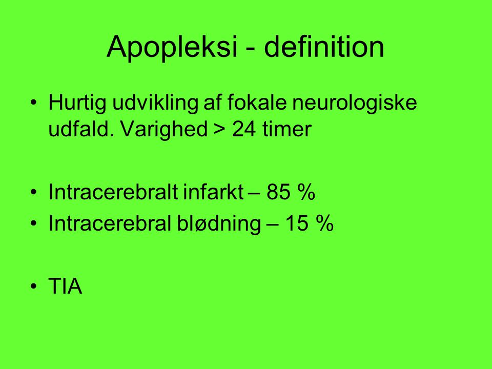 Apopleksi - definition