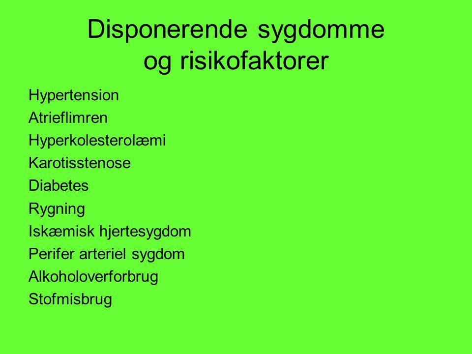Disponerende sygdomme og risikofaktorer