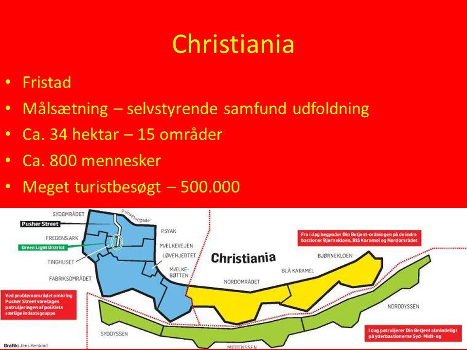 Christiania Fristad Målsætning – selvstyrende samfund udfoldning