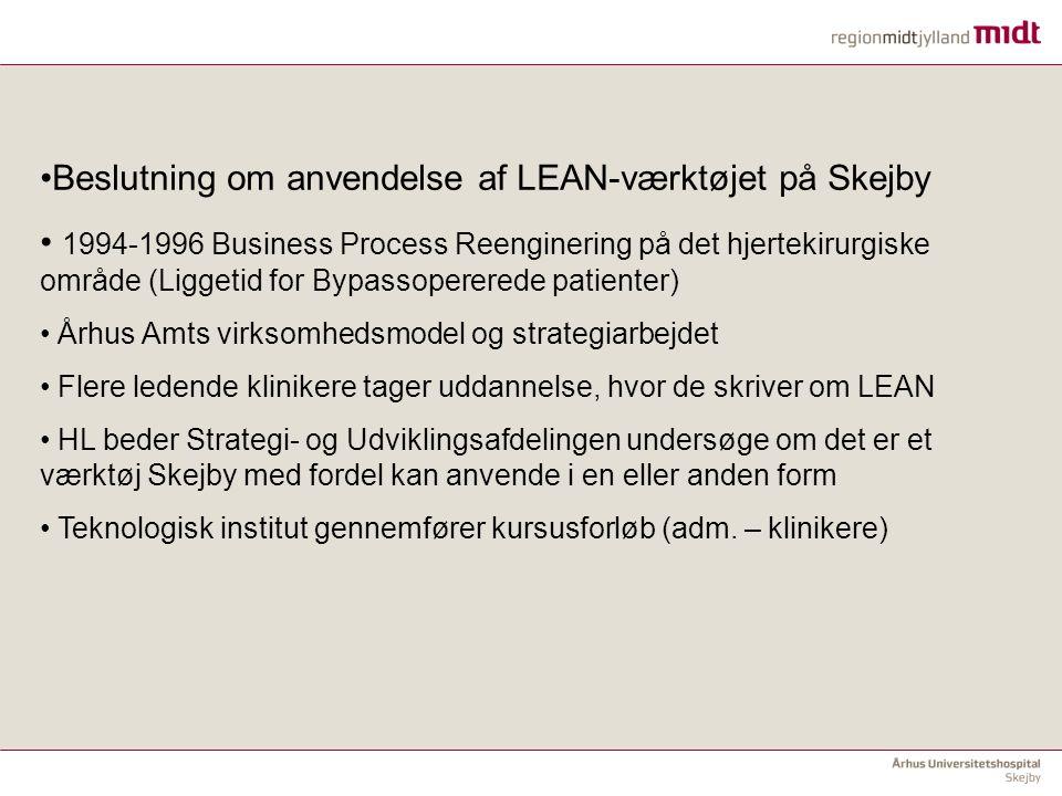 Beslutning om anvendelse af LEAN-værktøjet på Skejby