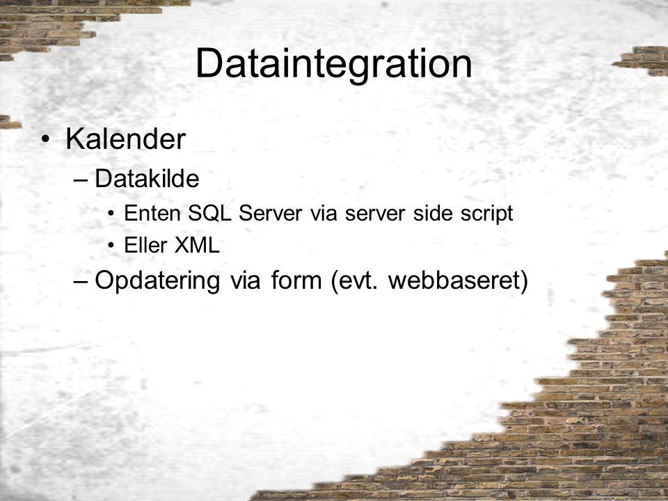 Dataintegration Kalender Datakilde