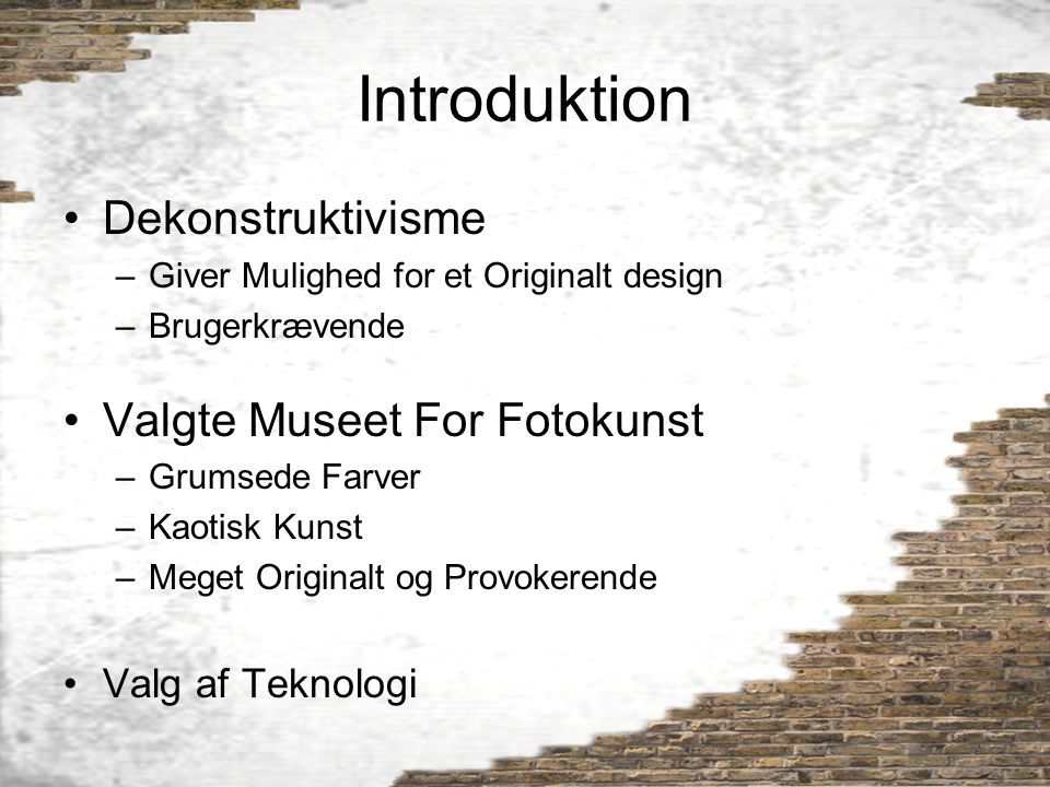 Introduktion Dekonstruktivisme Valgte Museet For Fotokunst