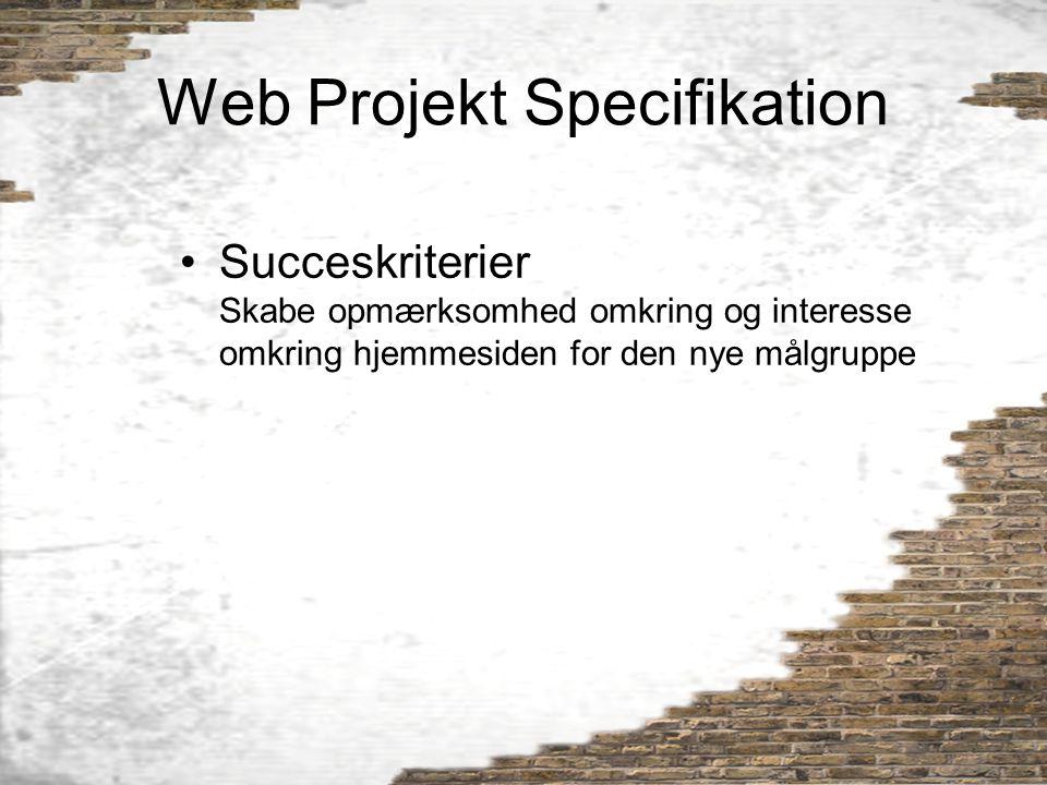 Web Projekt Specifikation