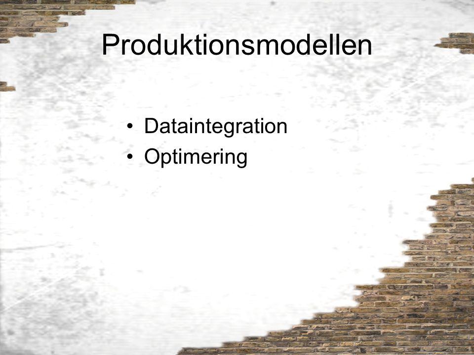 Produktionsmodellen Dataintegration Optimering