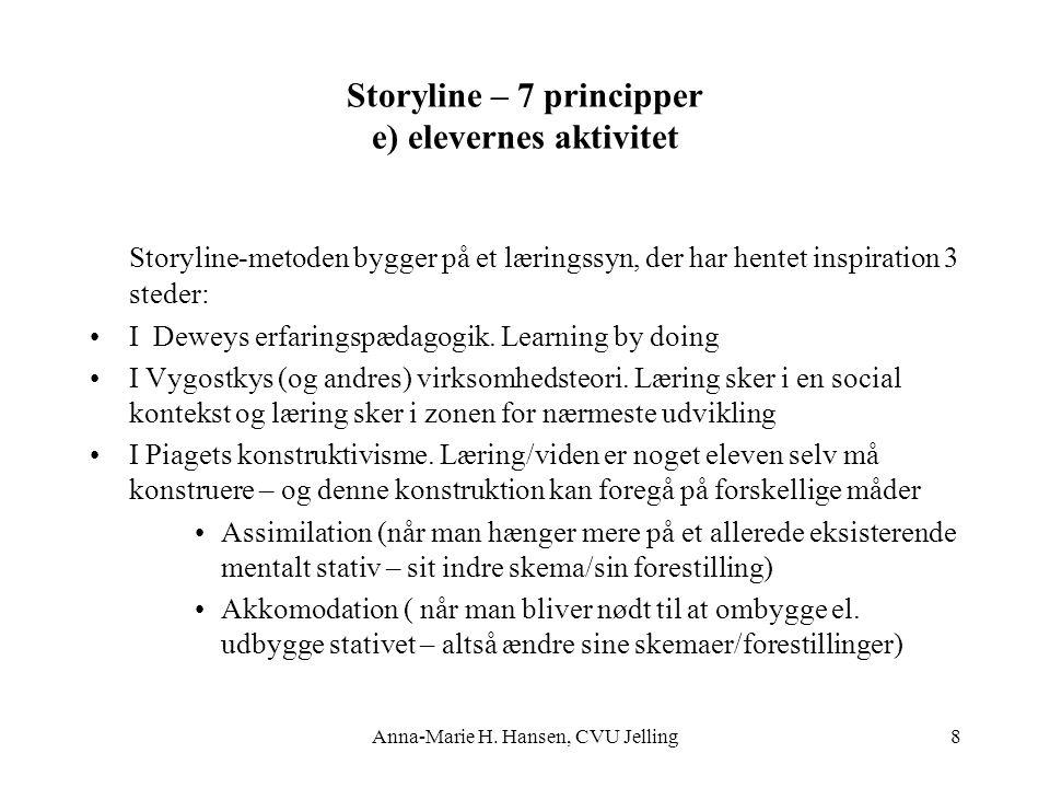 Storyline – 7 principper e) elevernes aktivitet