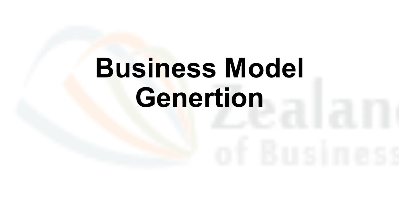 Business Model Genertion