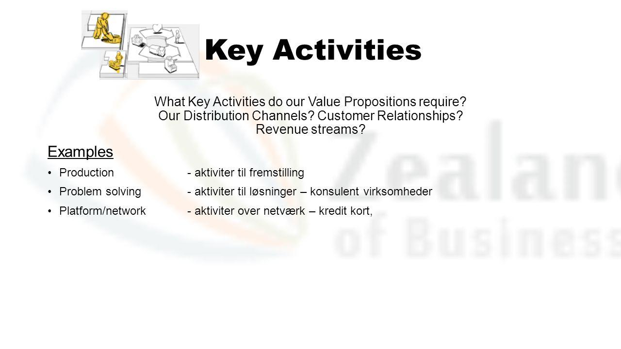 Key Activities Examples