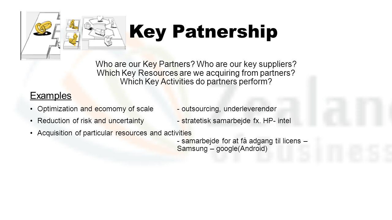 Key Patnership Examples