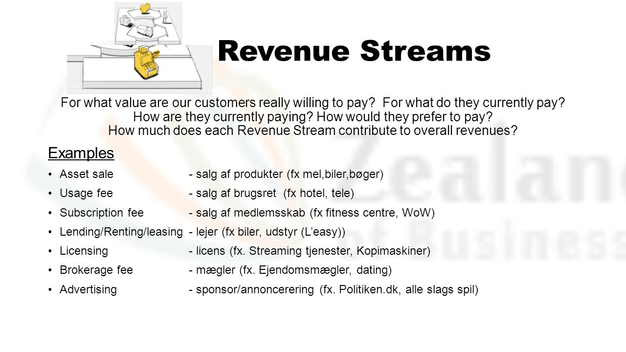 Revenue Streams Examples