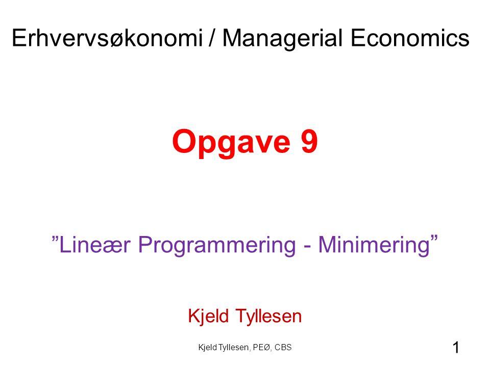 Lineær Programmering - Minimering