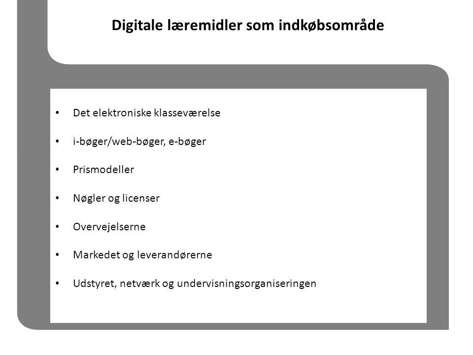 Digitale læremidler som indkøbsområde