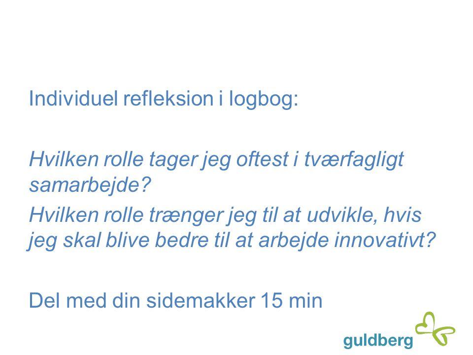 Individuel refleksion i logbog: