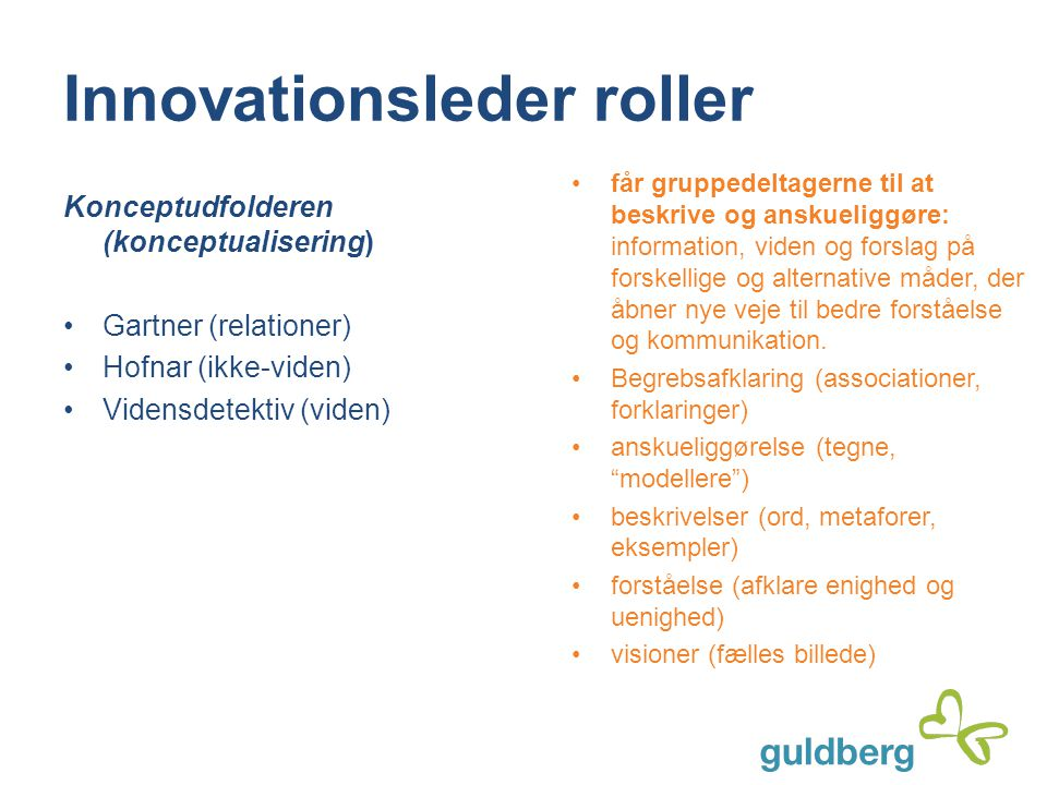 Innovationsleder roller