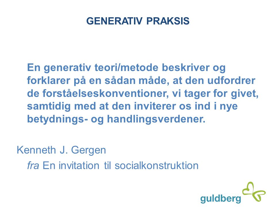 fra En invitation til socialkonstruktion