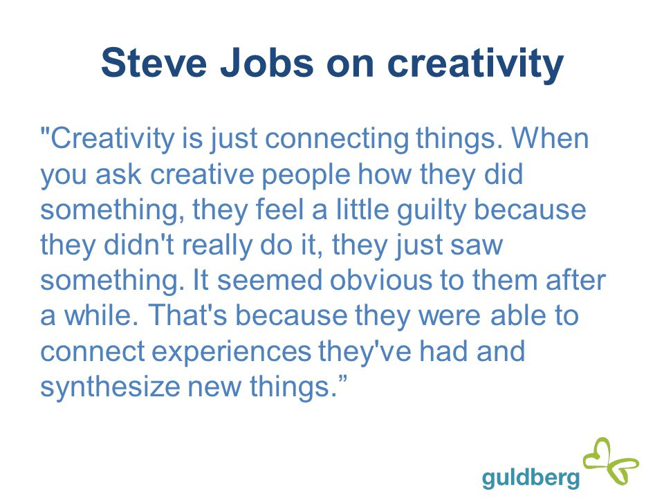 Steve Jobs on creativity
