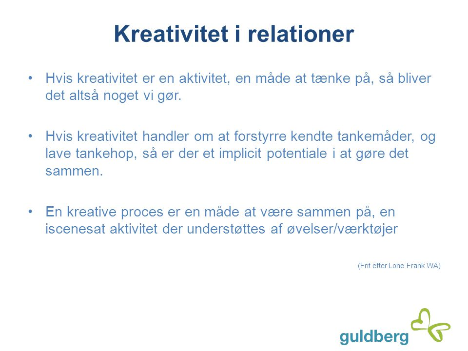 Kreativitet i relationer