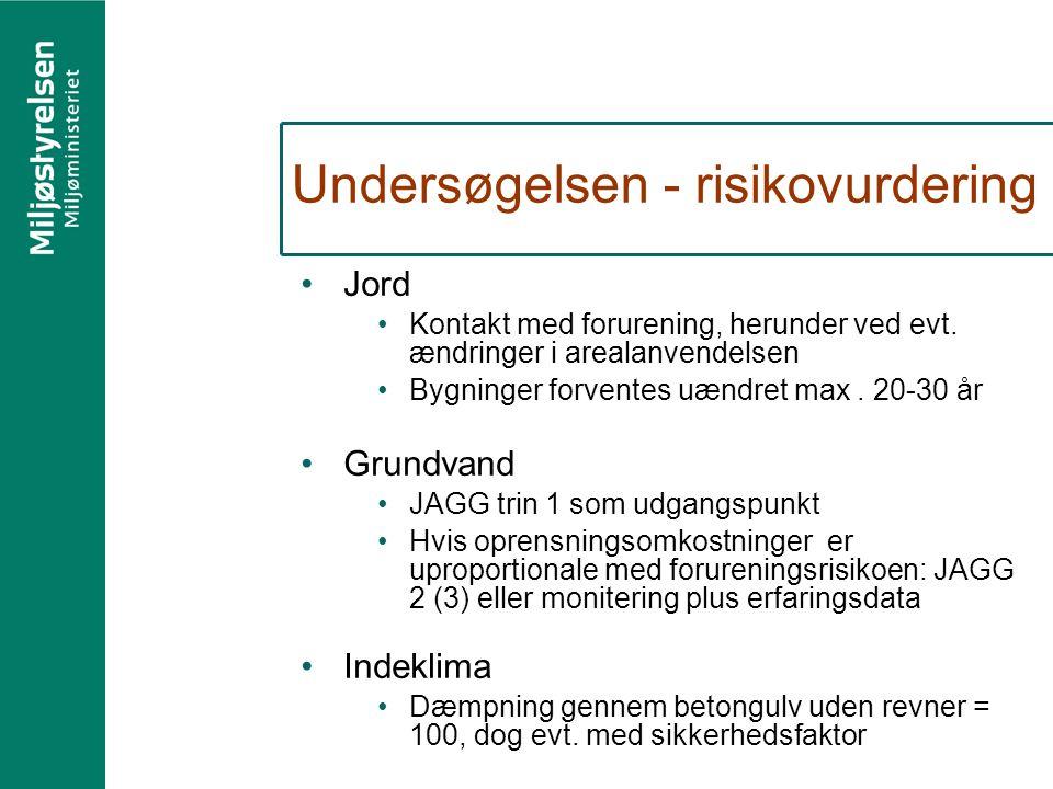 Undersøgelsen - risikovurdering