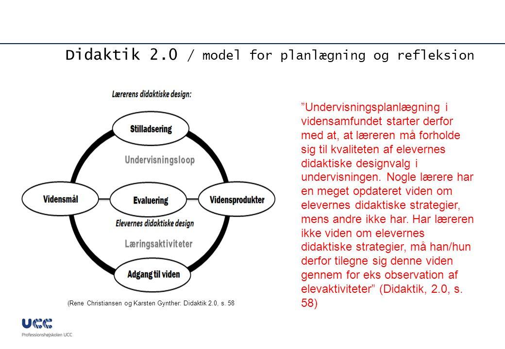 Didaktik 2.0 / model for planlægning og refleksion