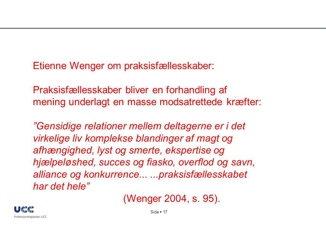 Etienne Wenger om praksisfællesskaber: