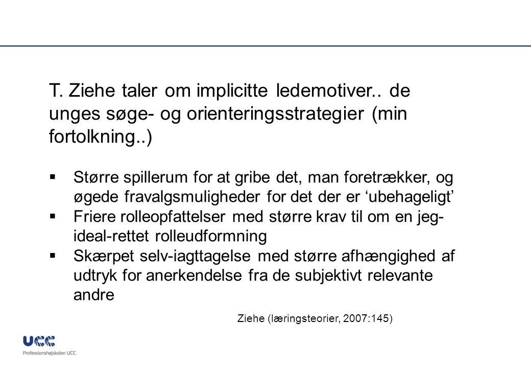 Ziehe (læringsteorier, 2007:145)