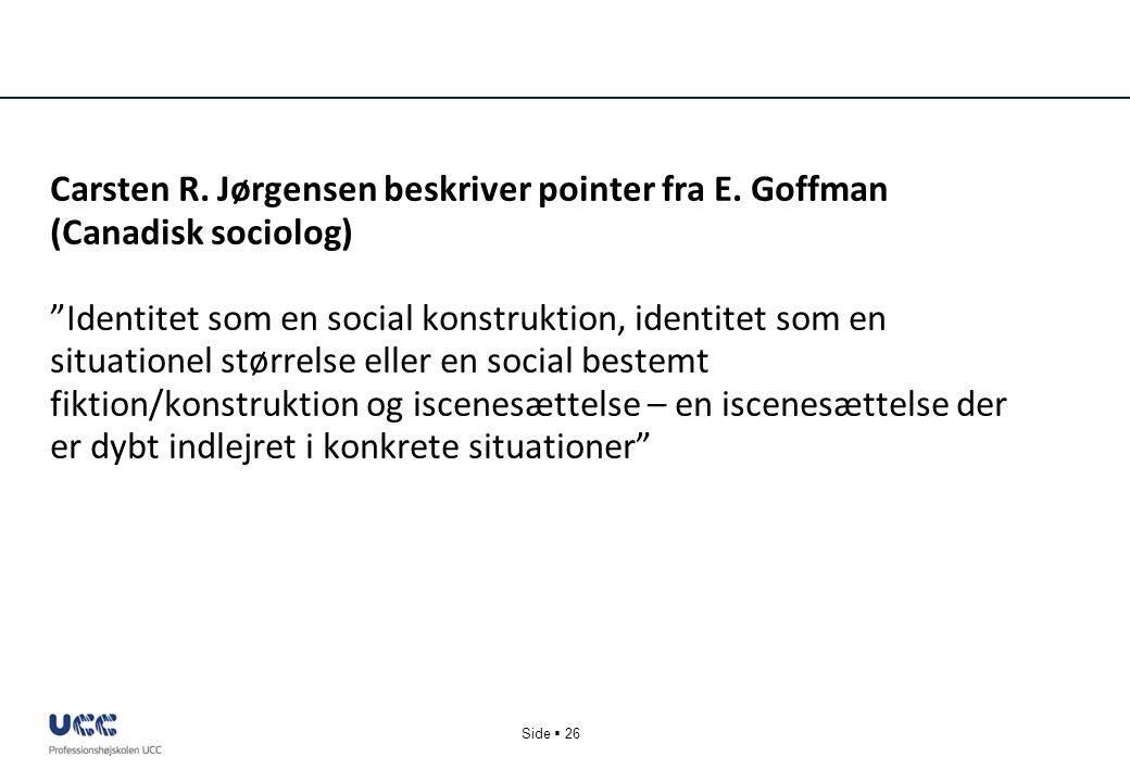 Carsten R. Jørgensen beskriver pointer fra E