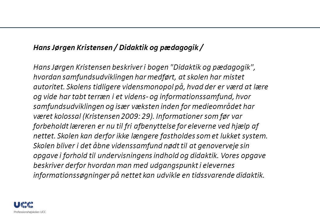 Hans Jørgen Kristensen / Didaktik og pædagogik /
