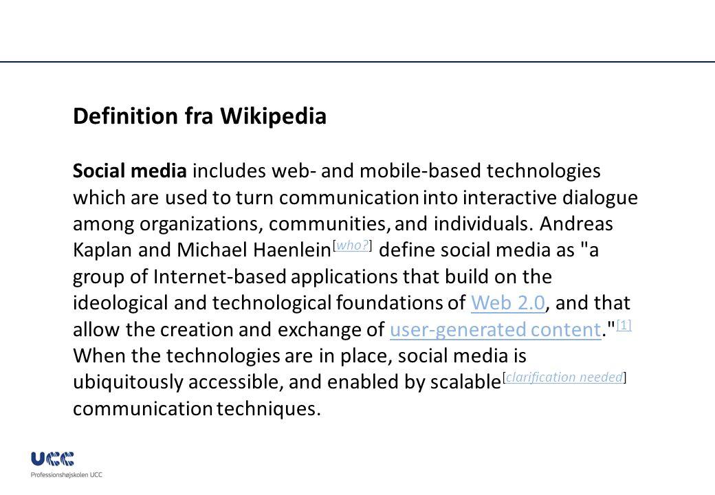 Definition fra Wikipedia