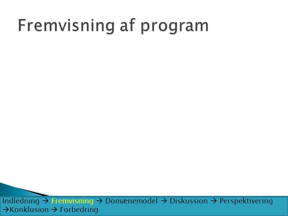 Fremvisning af program