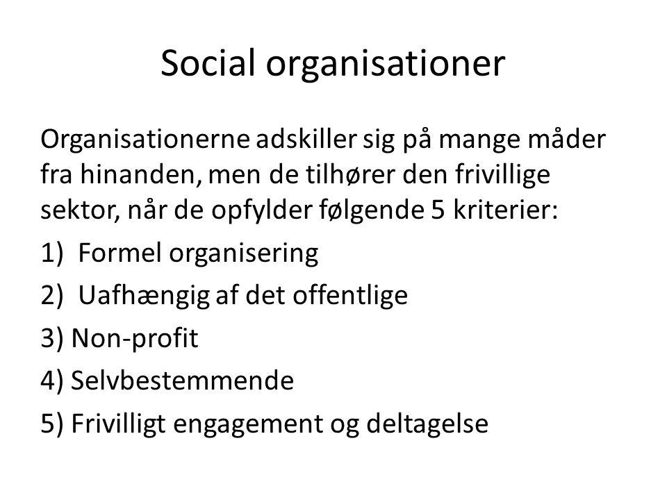 Social organisationer