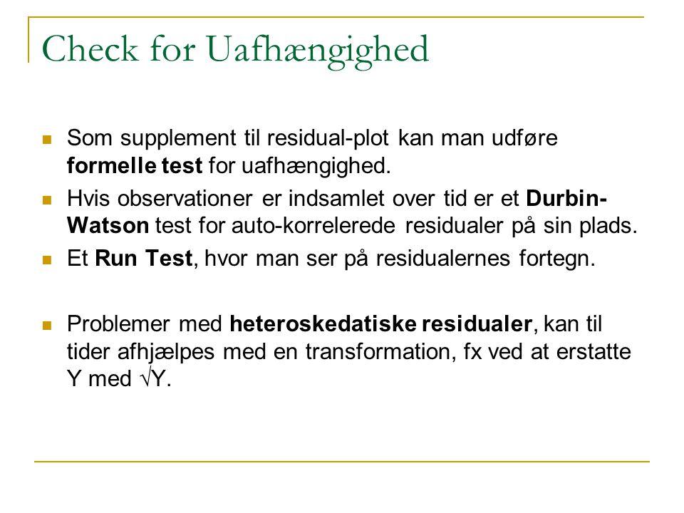 Check for Uafhængighed
