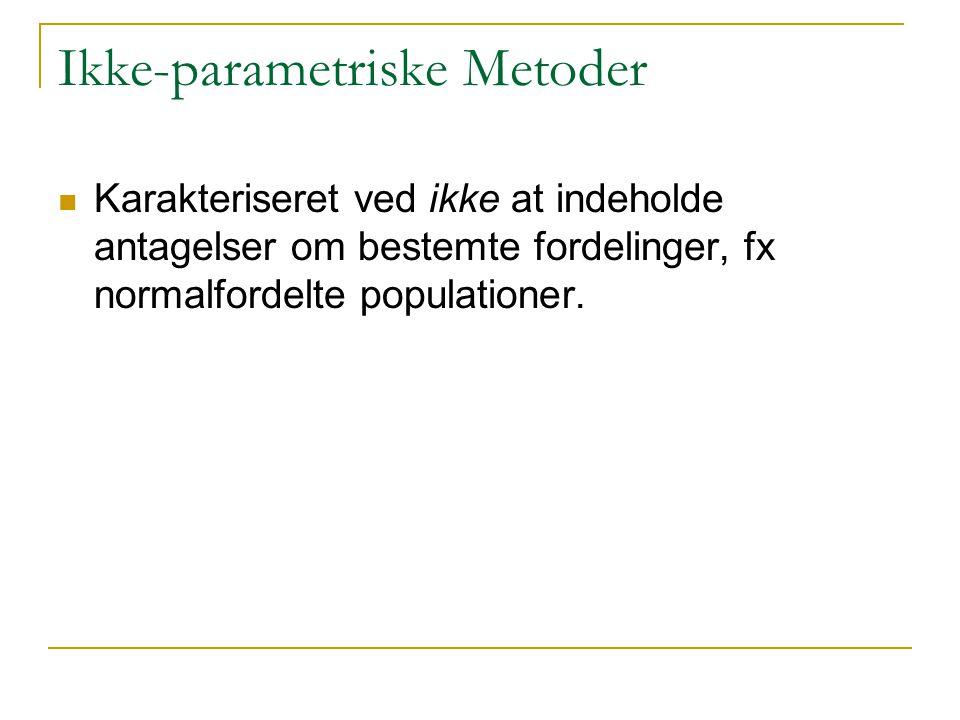 Ikke-parametriske Metoder