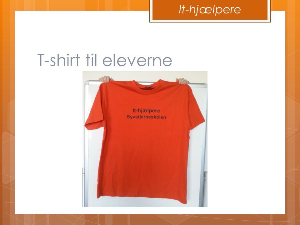 It-hjælpere T-shirt til eleverne