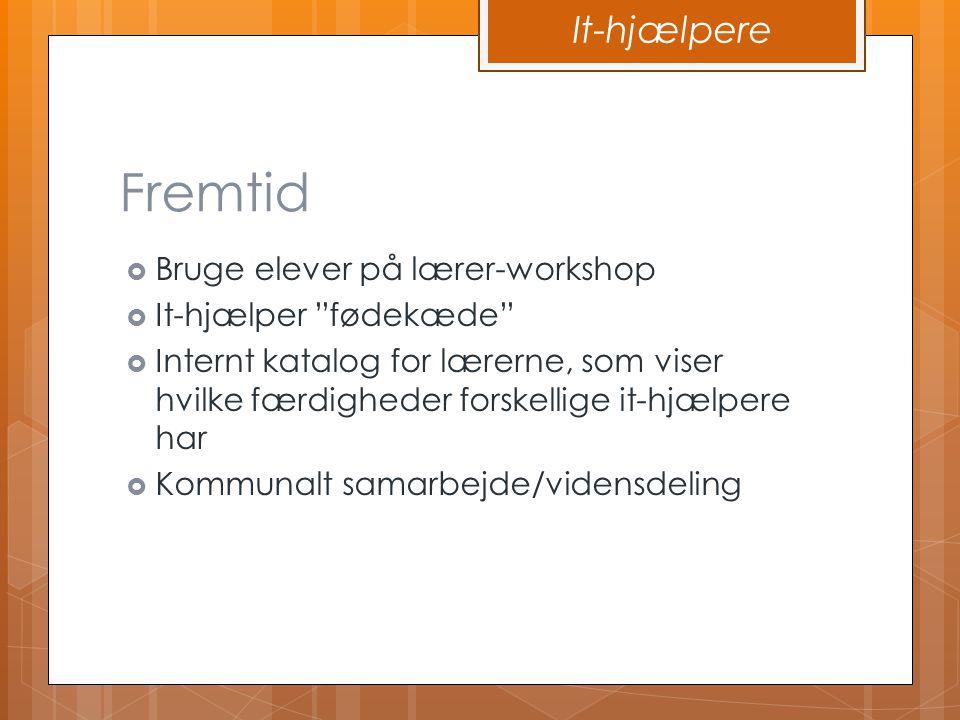 Fremtid It-hjælpere Bruge elever på lærer-workshop