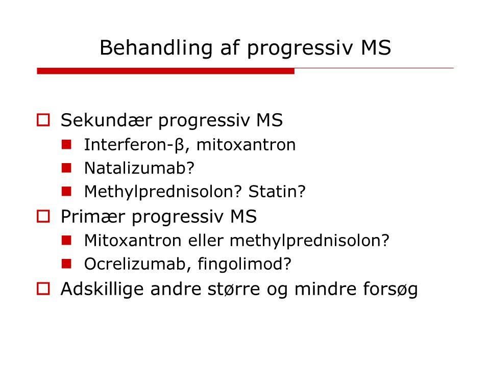 Behandling af progressiv MS