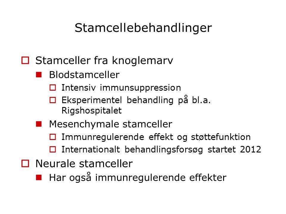 Stamcellebehandlinger
